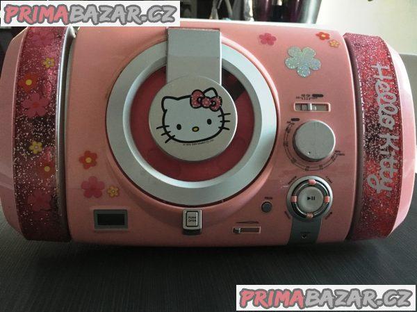 Dětský CD přehrávač s rádiem Hello Kitty