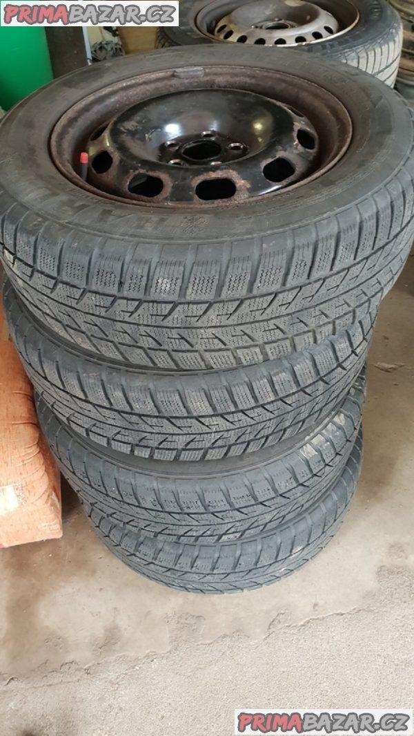 plechove disky 5x100 s pneu barum 195/65 r15 91t 6jx15 et38