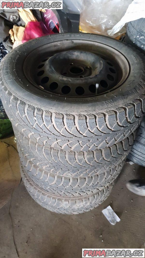 plechove disky opel s pneu vranik 195/65 r15 4x100 6jx15 et49