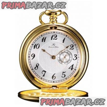 Stylové kapesní hodinky zlacené