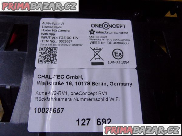 OneConcept RV 1, couvací kamera, Wi-Fi přenos