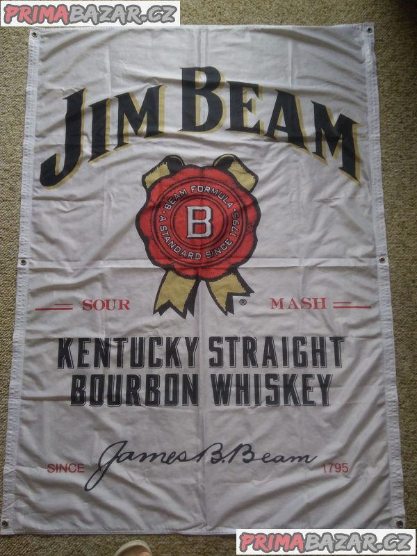 JIM BEAM vlajka 130x100cm s 6. oky