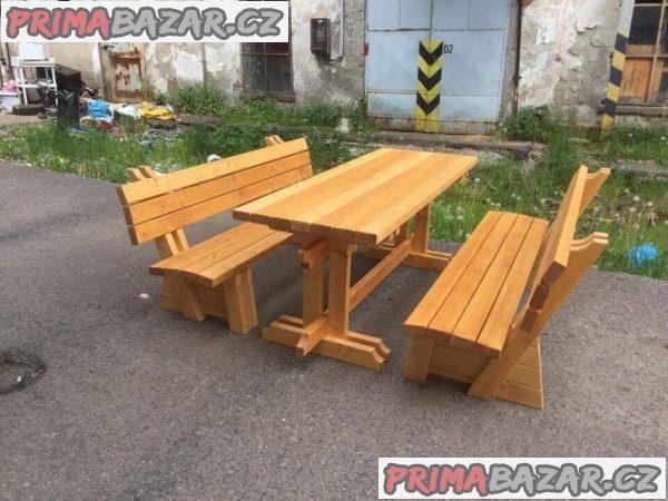 Prodám nový zahradní nábytek posezení pivní set lavice a stůl