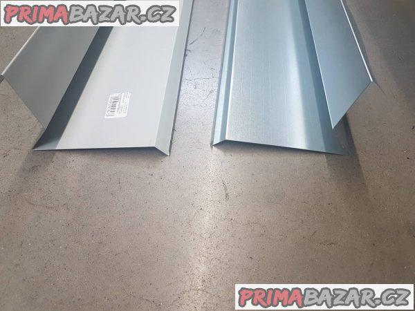 prodám závětrná lišta 2m používá se jako zakončení hrana střechy pozink je vhodná pro šindel lepenka a nízký trapézový plech varianta s upraveným povrchem hnědá