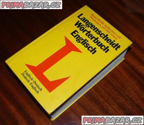 SLOVNÍK anglicko-německý a německo-anglický, 1408 stran
