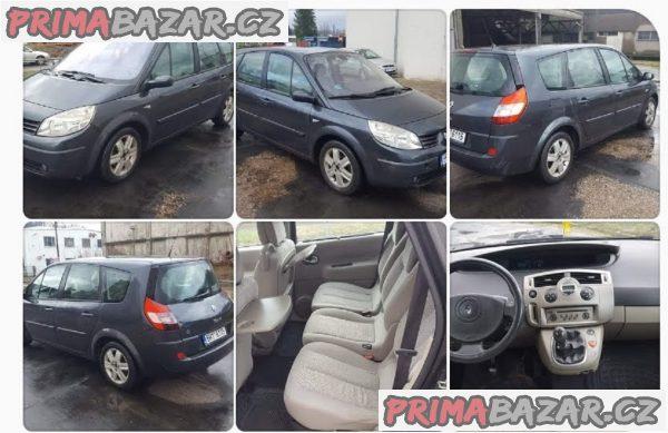 prodám auto Renault Grand Scenic 1.9dci 88kw, r.v 2004