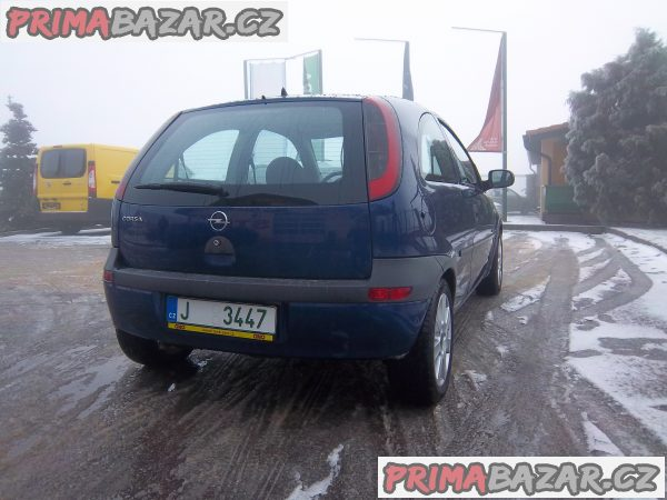 Opel corsa 1,0 obsah-nízká pojistka a spotřeba, Nová STK top stav tmavě modrá metalíza