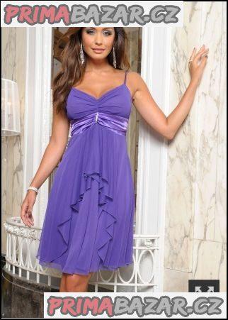 Fialové večerní šaty B.P.C. Vel. 38