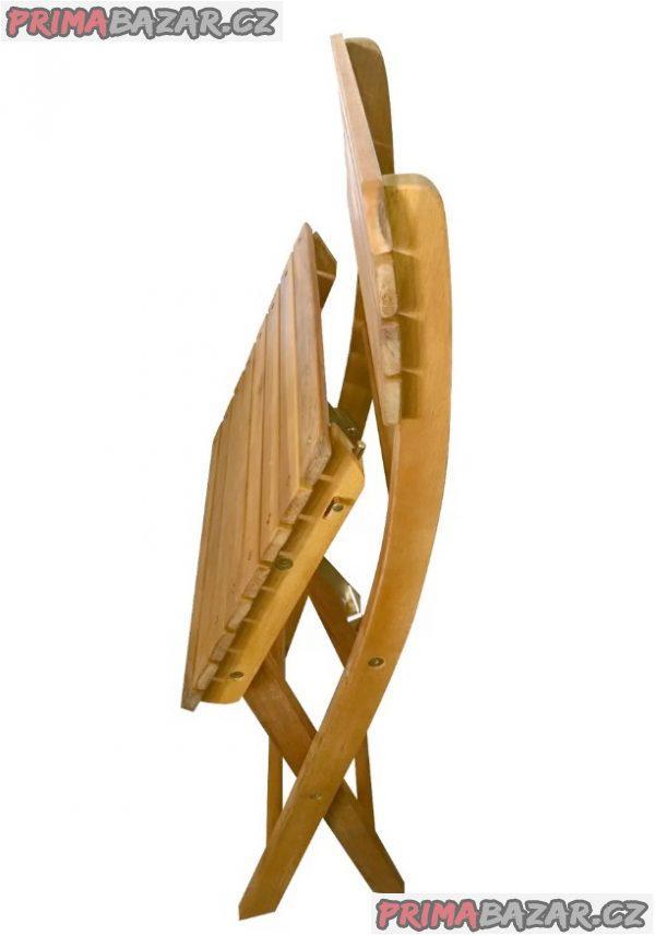 Florabest levná dřevěná židle skládací