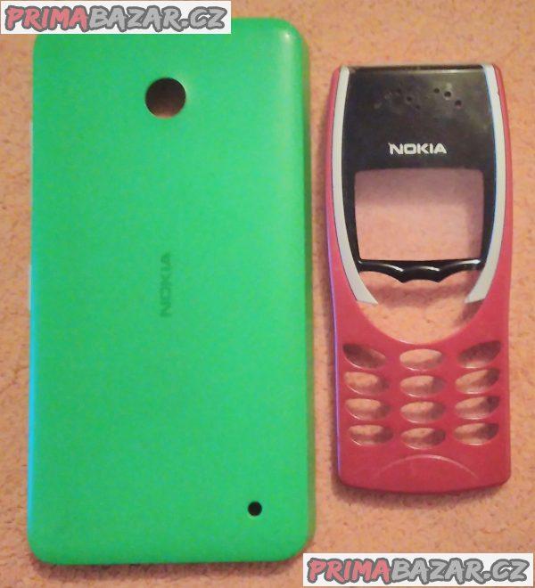 9x nové nebo zánovní kryty na mobilní telefony Nokia.