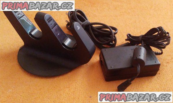 Nabíjecí stanice pro 2 ovladače Playstation 3 + DÁREK!!!