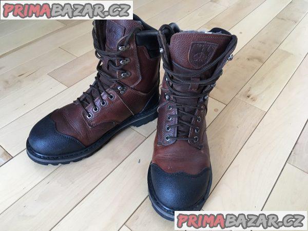 Pánské vysoké kožené zimní boty