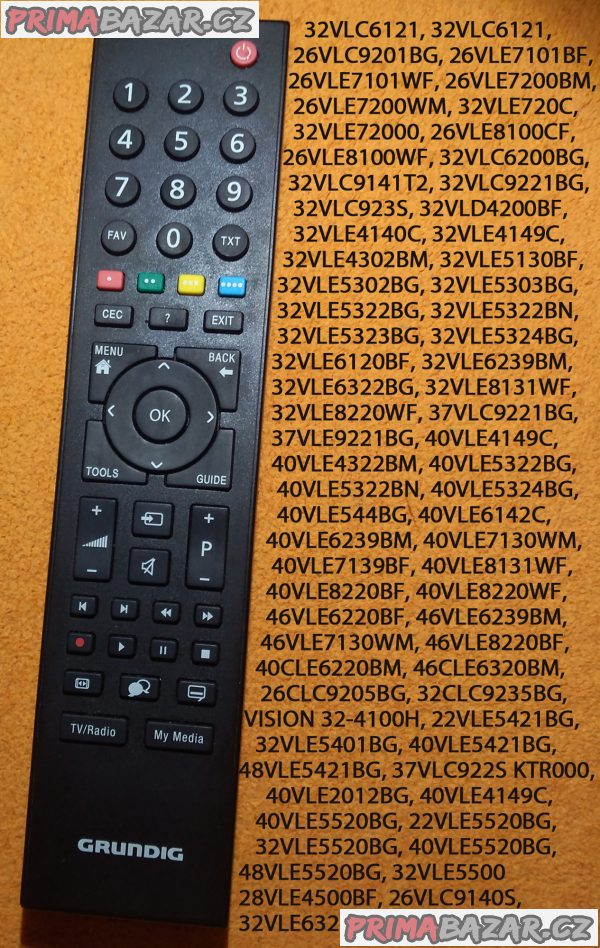 Dálkový ovladač pro TV Grundig RC3214803-01 TP6187R.