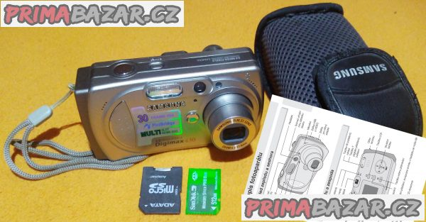 Digitální foťák a kamera Samsung Digimax 430 + 4 DÁRKY!!!