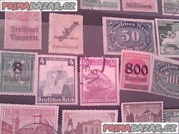 filatelie- přetisky  československo - Deutsches Reich