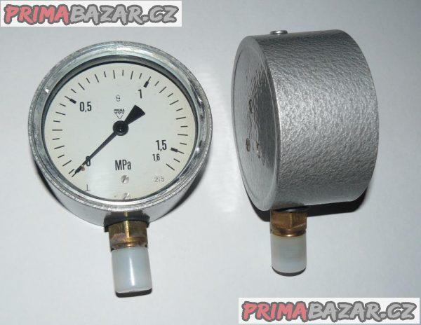 Manometr průměr 100 mm  0-1,6 MPa (0-16 bar), 1,6% ČR