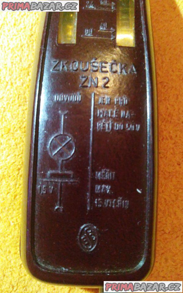 Sběratelská zkoušečka ZN2 - vadaska do 50 V.