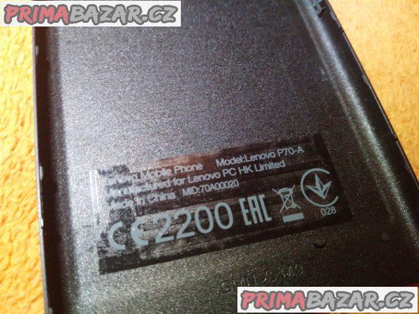 Lenovo P70 - originální zadní kryt - jako nový!!!
