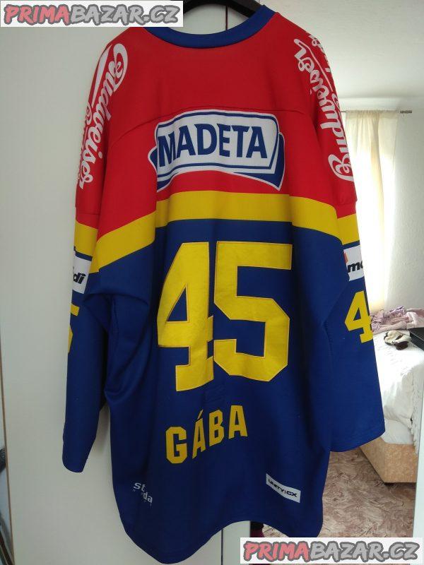 Originální hraný dres brankáře HC Motor Davida Gáby