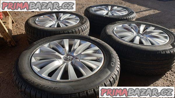 alu kola elektrony s pneu 90% vzorek 3d0 VW 5x112 7.5jx17 et40