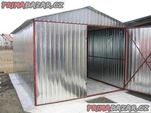 Plechové garáže - AKCE - doprava a montáž zdarma