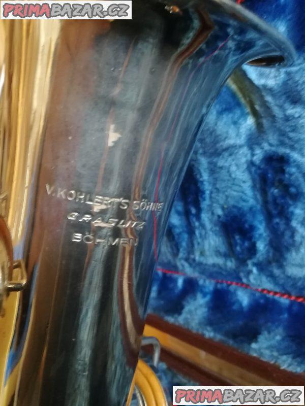 Alt saxofon KOHLERTS SÖHN GRASLITZ vyrobeno 1929
