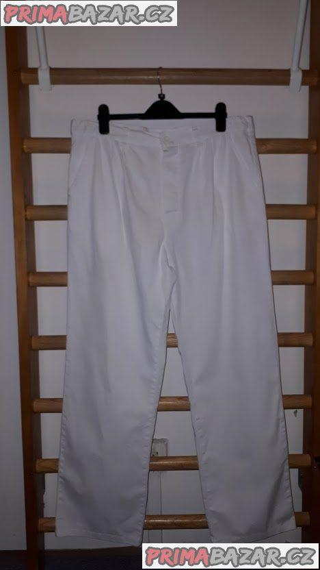 Bílé pánské  pracovní kalhoty vel. 52