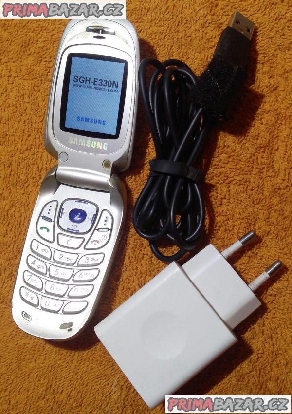 Véčko mobil Samsung SGH-E330N - funkční se slabou baterií!!!