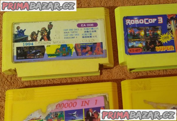 4 různé hry pro konzole Pegasus!!!