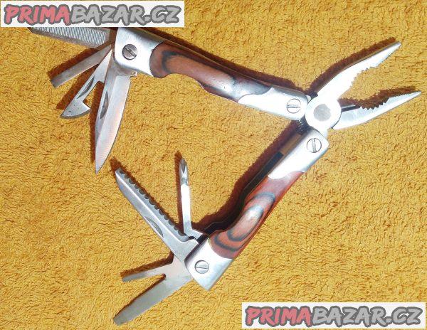 Nový kapesní nerezový nůž - min. 9 funkcí.