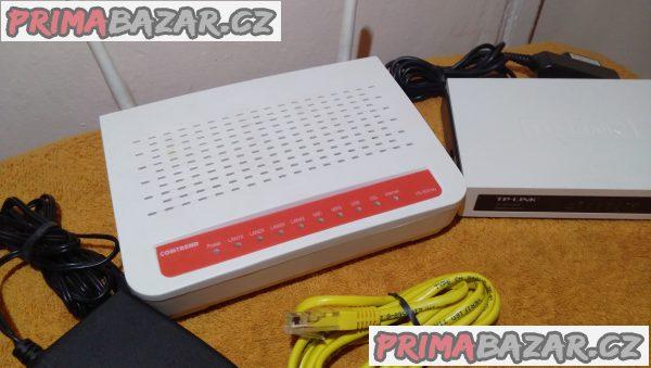 Wi-Fi router Comtrend VR-3031eu + ZDARMA switch.