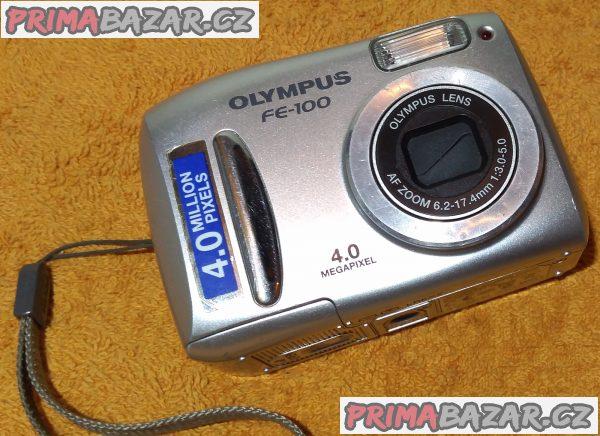 Digitální foťák Olympus FE-100 + 3 DÁRKY - vadný displej!!!