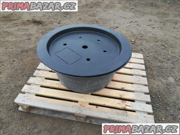Sklolaminátová nádoba pro fontány Ø100cm H-35cm 180l + Víko na laminátovou fontánovou nádrž Ø100cm 400kg Doprava zdarma na území ČR