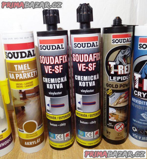 11 pomocníků SOUDAL - tmely, lepidla, chemické kotvy!!!