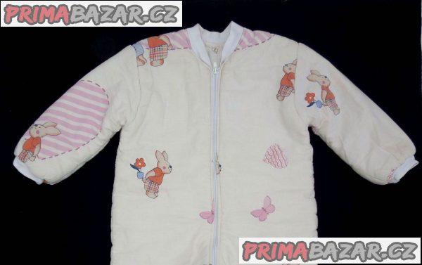 Pyžamko vcelku na zip teplé/spací pytel na 1,5-3 roky