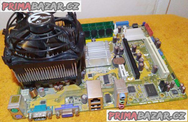 Zákl. deska ASUS P5G-MX + procesor a chladič a 2 GB RAM!!!