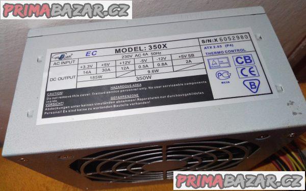 3x PC zdroj 300 až 450 W - levně!!!