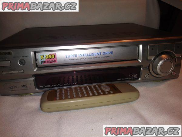 Videorekordér Aiwa HV-GX10H s dálkovým ovladačem . V SUPER STAVU,JAKO NOVÉ. Pouze osobní odběr.
