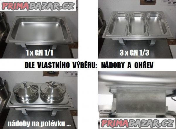 Chafing dish 2 x 1/2 GN
