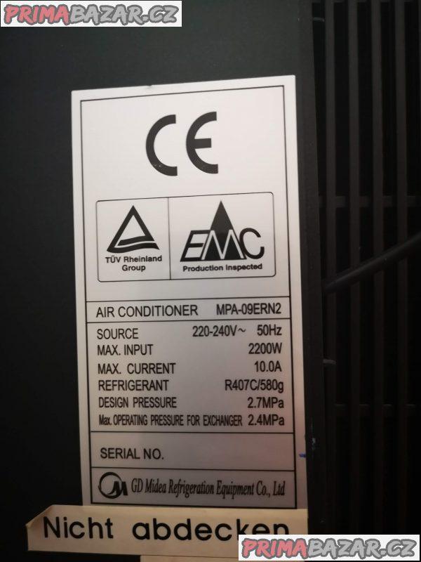 Mobilní klimatizace MIDEA s dálkovým ovládáním