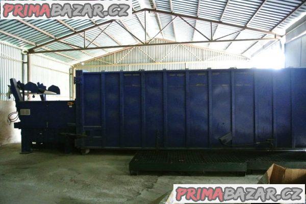 Stacionarny hydraulicky lis s kontajnerom