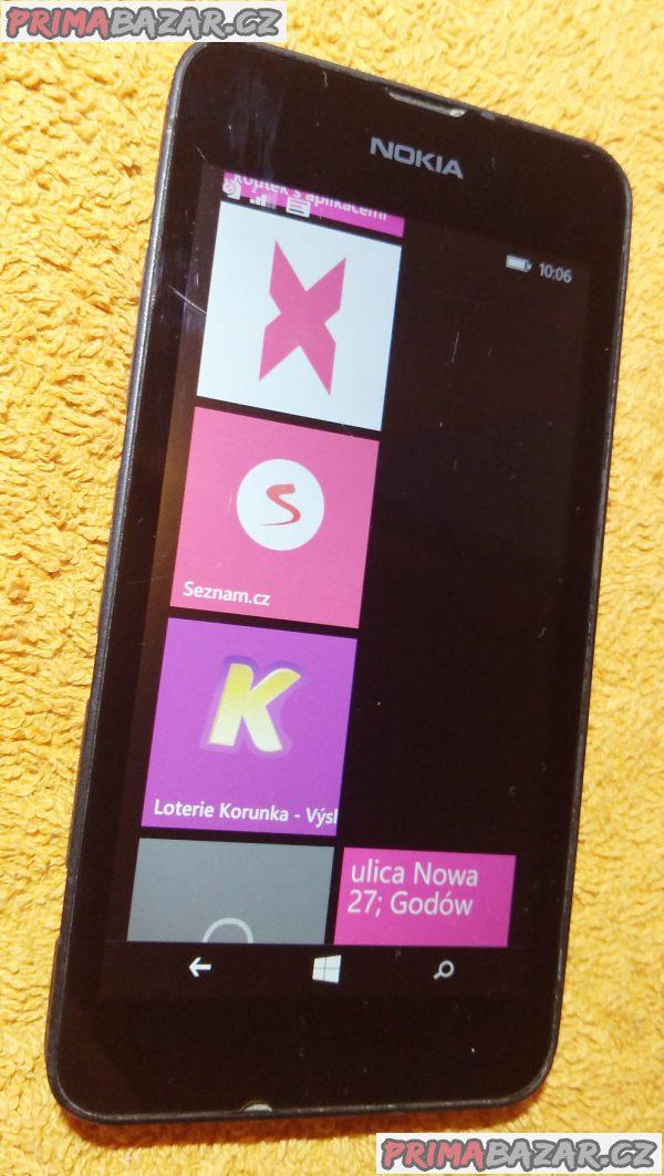 Nokia Lumia 530 na 2 SIM - bez zadního krytu!!!