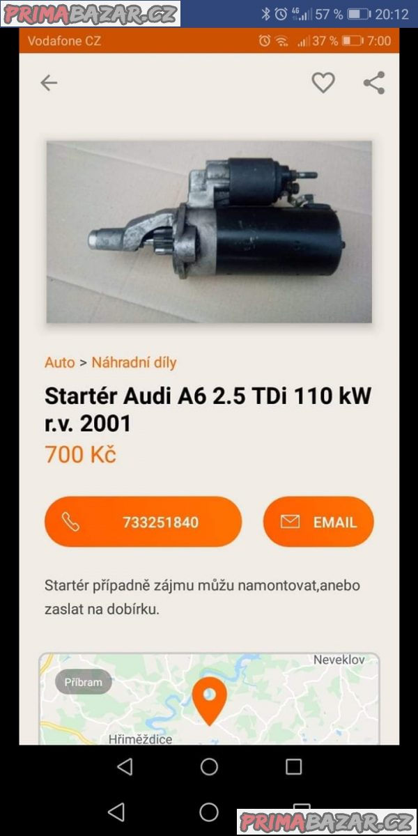 Startér Audi A6