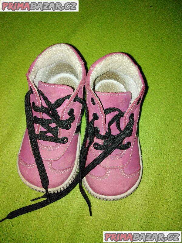 Dětské kožené botičky