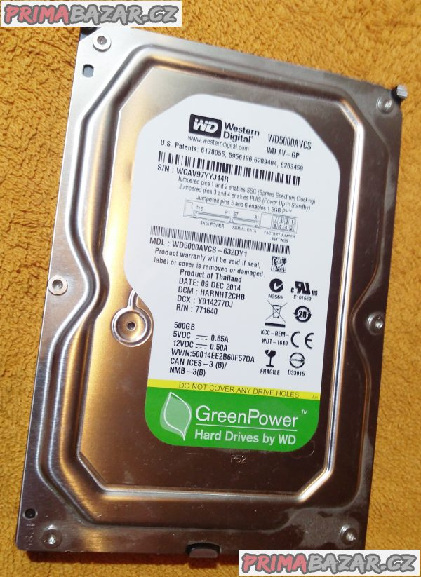 Rychlý HDD pro PC - 500 GB + ZDARMA 80 GB!!!