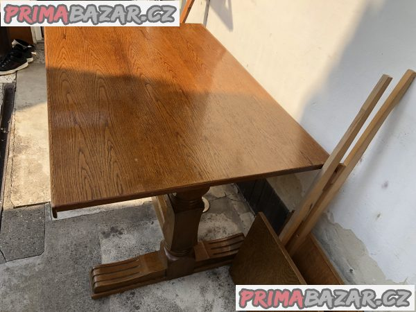 Velký masivní stůl starožitný rustikal