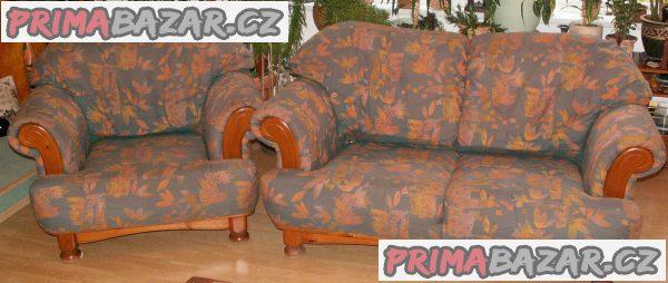 Masivní rustikální sedací souprava starožitná