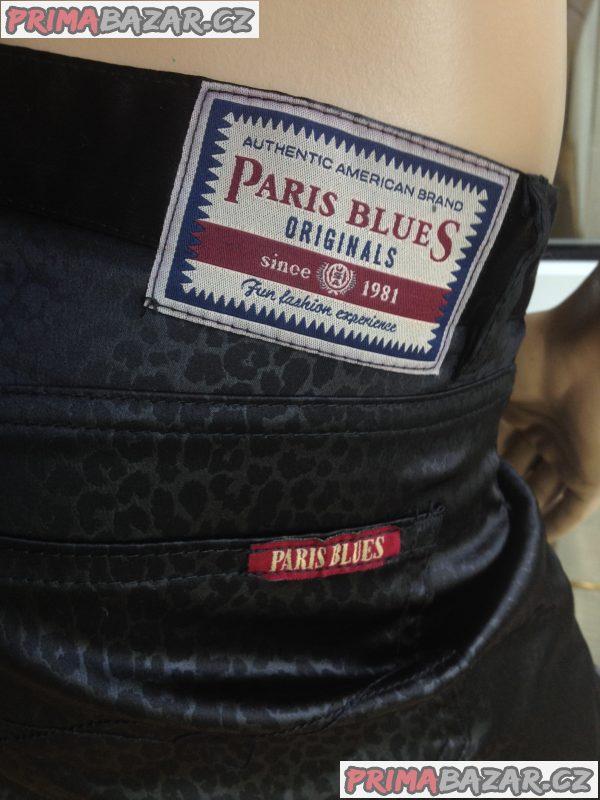 Značkové americké černé jeans PARIS BLUES