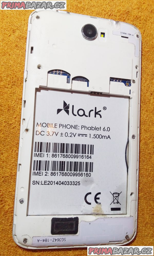 Lark Phablet 6.0 na 2 SIM - k opravě nebo na ND!