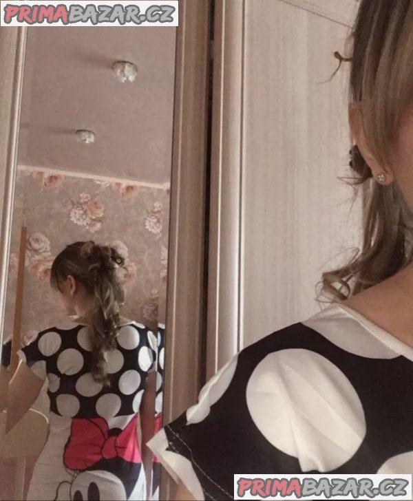 Nové sexy dámské letni minisaty šaty Mickey mouse M